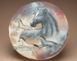 "Native American Painted Drum 16""  -Mustang"