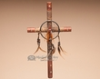 "Southwest Medicine Wheel Cross -Tarahumara 16"" (8)"