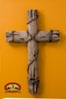 "Rustic Southwestern Wall Cross 14"" -Fence Post  (C3)"