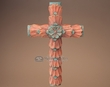 "Southwestern Hand Carved Wooden Cross 17""  (c27)"