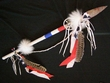"Patriotic Native American Lance 40"" -Tigua Indian Spear  (8)"