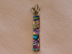 Sterling Silver Jewelry - Dichroic Glass Pendant  (126)