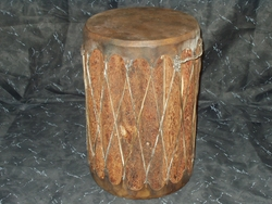 Indian Drum Table 12x18 -dark