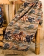 Western Throw Blanket 50x60 -Wild Horses CLEARANCE