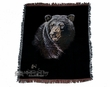 "Wildlife Southwestern Throw Blanket 50""x60"" -Bear  (st14)"