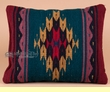 Woven Wool Zapotec Indian Pillow 12x16 (t)