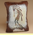 Painted Cowhide Southwest Pattern Pillow - kokopelli  (13)