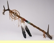 "Indian Antler Medicine Staff 27"" -Tigua  (s15)"