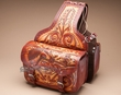 Western Tooled Cowhide Leather Equine Saddle Bags  (sb1)
