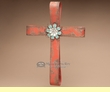 "Southwest Decor Designer Ribbon Cross 18"" -Red  (c37)"