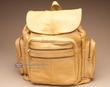 Soft Genuine Cowhide Leather Back Pack -Gold  (bp1)