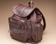 Deluxe Handcrafted Leather Back Pack -Brown  (bp2)