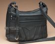 Genuine Cowhide Leather Concealment Purse -Black  (p81)
