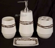4 pc. Western Barb Wire Bathroom Accessory Set  (b6)