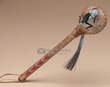 "Native American Painted Rawhide Rattle 8"" -Kokopelli (192a)"