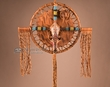 Native American Beaded Apache Coyote Cross (c45)