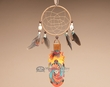 "Native Cedar Feather Dream Catcher 11"" -Mother's Son  (102)"