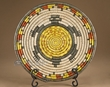 "Indian Style Hand Coiled Basket & Stand 12"" -Turtle  (a39)"