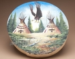 "Native Tarahumara Painted Drum 16"" -Teepee  (pd31)"