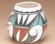"Tigua Indian Pueblo Clay Pottery Vase 4x4""  (59)"