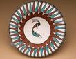 "American Indian Tigua Pottery Bowl 7"" -Kokopelli"