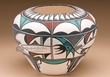 Native American Hand Painted Pottery Vase 7.5x6 -Tigua