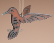 "Western Metal Art Hanging Ornament 3"" -Hummingbird"