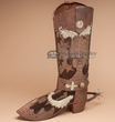 Rustic Tin Western Boot for Decor 22""