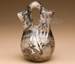 "Native American Etched Horse Hair Wedding Vase 5.5"" -Navajo  (p220)"