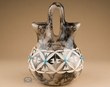 "Navajo Horse Hair Wedding Vase 8"" -Flower (268)"