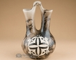 "Navajo Indian Horse Hair Wedding Vase 7.5"" -Turtle (271)"