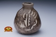 Native American Navajo Pottery  -Horse Hair Vase (86)