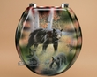 Painted Southwest Toilet Seat -Bear  (t13)