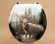 Painted Southwest Toilet Seat -Elk  (t10)