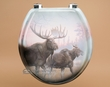 Painted Southwest Toilet Seat -Moose  (t11)