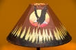 "Painted Leather Lamp Shade 18"" -Sunset Eagle  (PL98)"