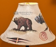 "15"" Painted Leather Lamp Shade - Bear & Buffalo  (ps28)"
