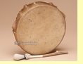 "Native American Drum 8"" Buffalo Hide -Kiowa"