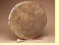 Native American Buffalo Hide Drum -Kiowa  20""