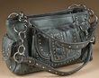 Stitched Designer Western Purse -Grey  (431)