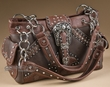 Designer Buckle Western Purse -Brown  (435)