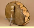 "Native Cottonwood Log Drum For Sale 17""x6""  (pd10)"