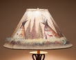 "Painted Leather Lamp Shade 18"" -Teepees  (PL96)"