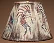 "Southwest Painted Leather Lamp Shade 10"" -Kokopelli   (112)"