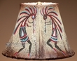 "Southwest Painted Leather Lamp Shade 10"" -Kokopelli   (113)"