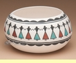 "Pueblo  Indian Tigua Friendship Bowl - 7"" wide"