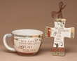 Cup & Cross Inspirational Gift Set -Give Thanks CLEARANCE