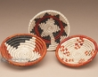 "3pc. Southwest Hand Woven Basket Set 4""  (b251)"