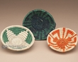 "3pc. Southwest Hand Woven Basket Set 4""  (b252)"