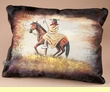 Painted Cowhide Pillow - Indian  (17)